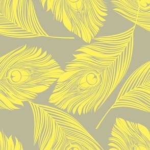Feathered - yellow and grey