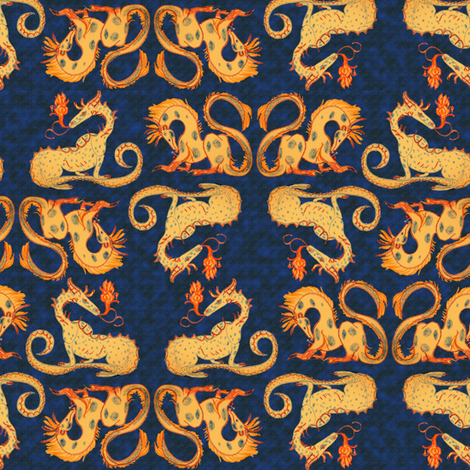 Dragon fire fabric by eclectic_house on Spoonflower - custom fabric