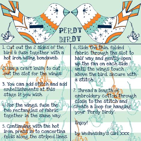 perdy birdy winter colours fabric by wednesdaysgirl on Spoonflower - custom fabric