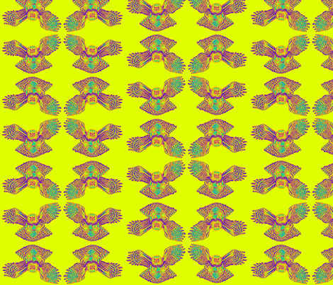 Harpy_Eagle_Tile_Rainbow fabric by artisticendeavors on Spoonflower - custom fabric