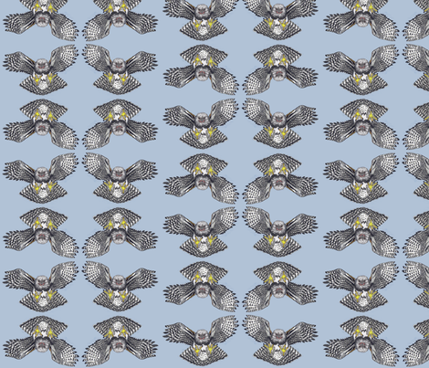 Harpy_Eagle_Tile fabric by artisticendeavors on Spoonflower - custom fabric