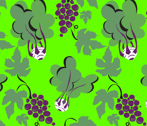 Kohlrabi & Grapes fabric by marlene_pixley on Spoonflower - custom fabric