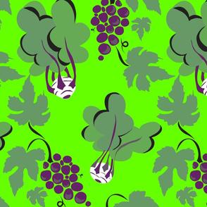 Kohlrabi & Grapes