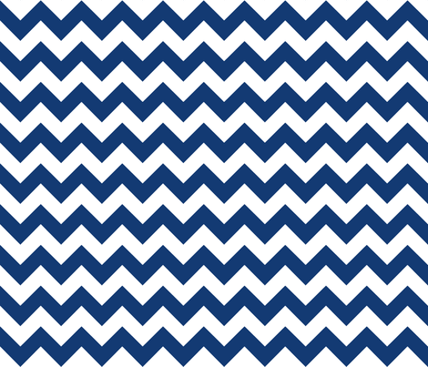 chevron_navy fabric by walrus_studio on Spoonflower - custom fabric