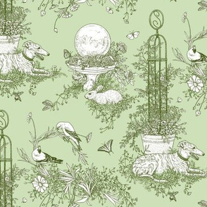 Green Garden Toile Small ©2011 by Jane Walker