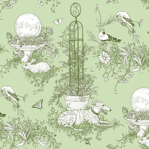 Green Garden Toile Large  ©2011 by Jane Walker