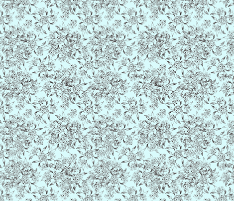 Vintage Floral-ch fabric by klowe on Spoonflower - custom fabric