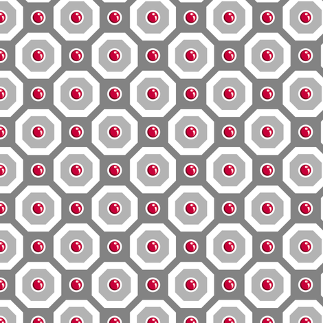 Ruby March fabric by siya on Spoonflower - custom fabric