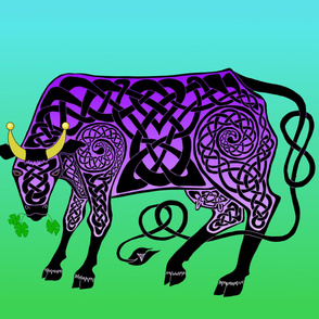 Purple Celtic Cow Banner