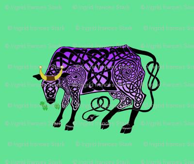 Purple Celtic Cow Small