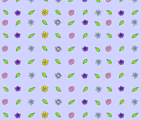 Flowers fabric by artzeechris on Spoonflower - custom fabric