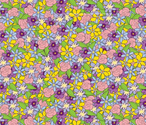 flowers1remix fabric by artzeechris on Spoonflower - custom fabric
