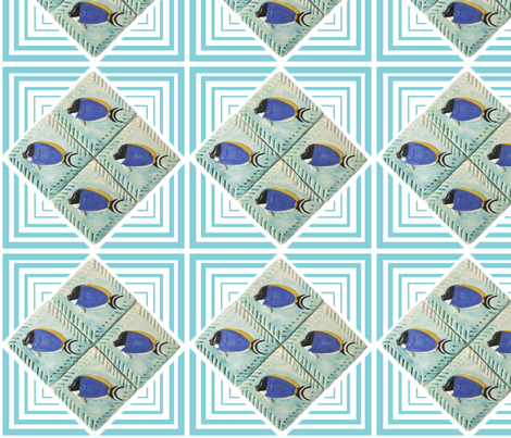 Fish, Powder Blue Surgeon fabric by pad_design on Spoonflower - custom fabric