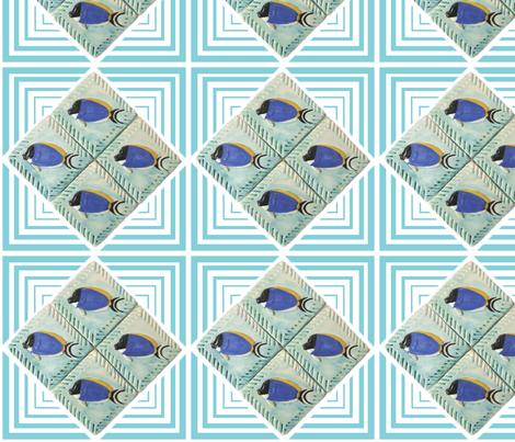 Fish, Powder Blue Surgeon fabric by pad_design on Spoonflower - custom fabric