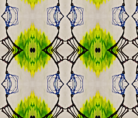 blue trees and green mountains fabric by codalion on Spoonflower - custom fabric