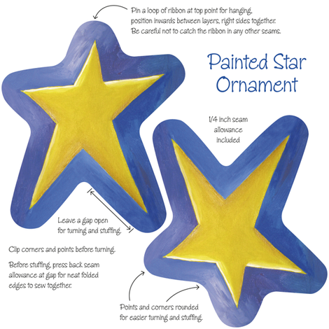 Painted_Star_Ornament fabric by karenmayo on Spoonflower - custom fabric