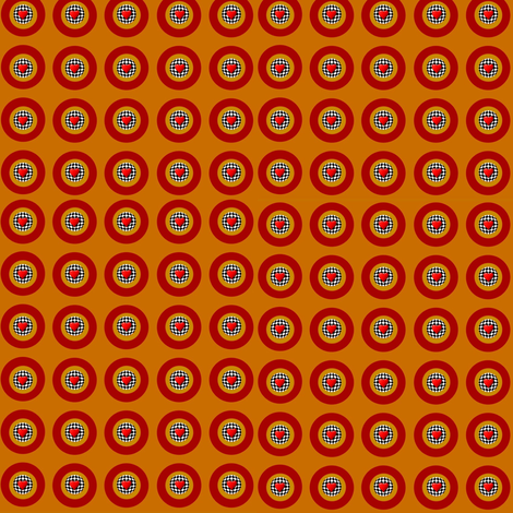 Bright Circles and Hearts fabric by whimzwhirled on Spoonflower - custom fabric