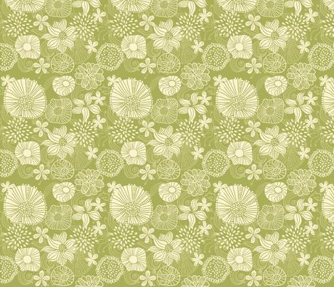 Flowers in Vector fabric by anastasiia-ku on Spoonflower - custom fabric