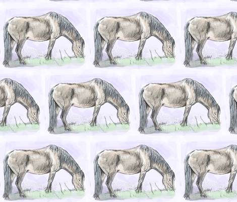 Pony Grazing fabric by eclectic_house on Spoonflower - custom fabric