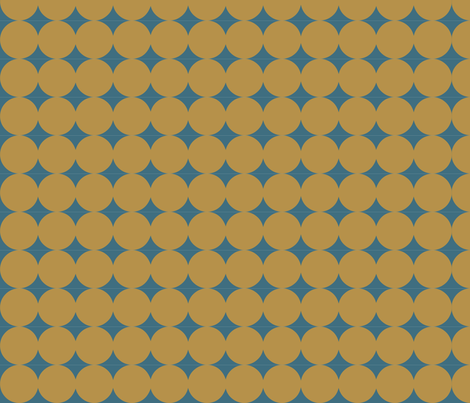 Dot Line - Gold Blue fabric by owlandchickadee on Spoonflower - custom fabric