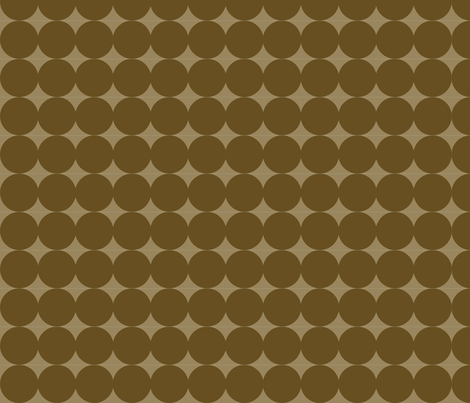 Dot Line - Brown fabric by owlandchickadee on Spoonflower - custom fabric