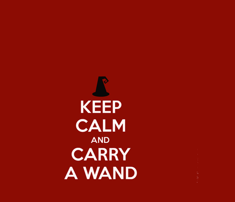Carry_a_Wand_18X24-ch fabric by marionwilhelm on Spoonflower - custom fabric