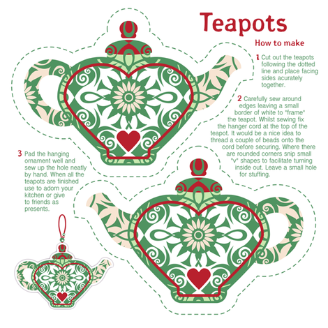 7 Miniature Teapots. Please zoom to see all 7 of them. fabric by niceandfancy on Spoonflower - custom fabric