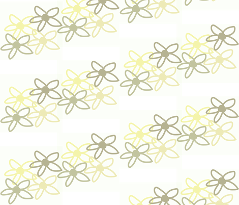 Flower Field fabric by theladyinthread on Spoonflower - custom fabric
