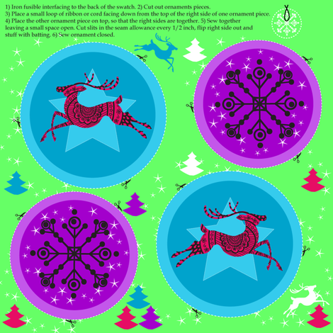 Holiday Ornaments fabric by marlene_pixley on Spoonflower - custom fabric