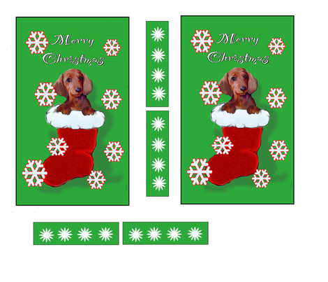 dachshund Christmas walll hanging
