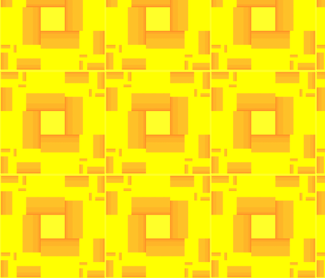 Brick_Yellow_Rectangles_Brick fabric by pd_frasure on Spoonflower - custom fabric