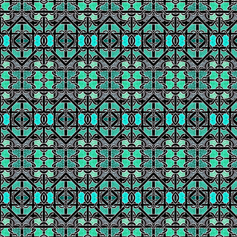 Aqua behind Celtic Bars fabric by edsel2084 on Spoonflower - custom fabric