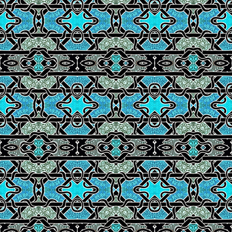 Cyan Diamond Twist fabric by edsel2084 on Spoonflower - custom fabric