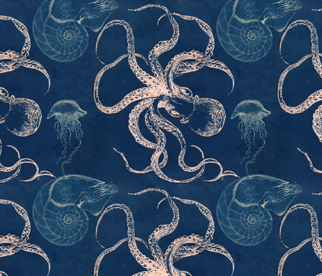 deep blue sea fabric by trollop on Spoonflower - custom fabric
