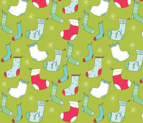 groovy stockings fabric by fable_design on Spoonflower - custom fabric
