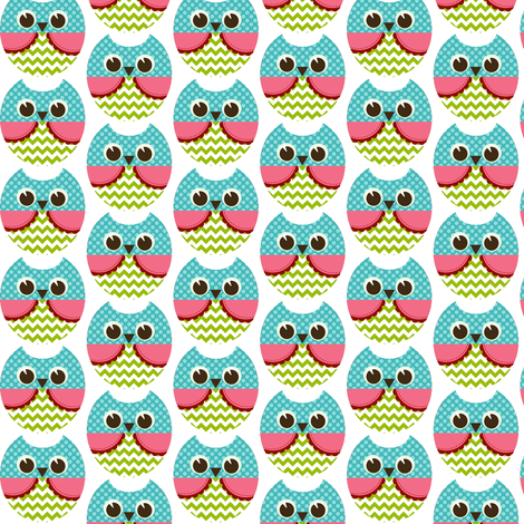 owl fabric by natitys on Spoonflower - custom fabric