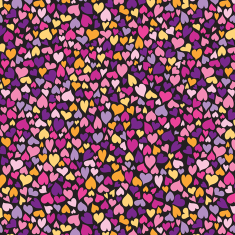 Candy Hearts fabric by ghennah on Spoonflower - custom fabric