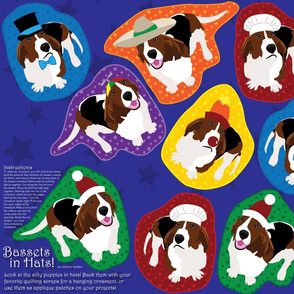 Bassets in Hats (See FQ View for More Bassets!)