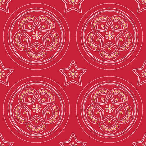 Parol Hanging Ornament (Red) fabric by gracedesign on Spoonflower - custom fabric