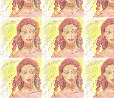 crayon redhead fabric by pigglewiggins on Spoonflower - custom fabric