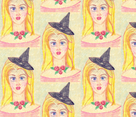Blonde Witch fabric by pigglewiggins on Spoonflower - custom fabric