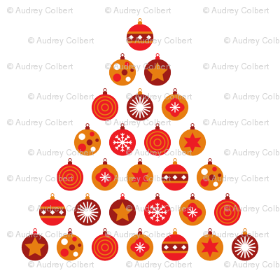 Christmas bauble tree