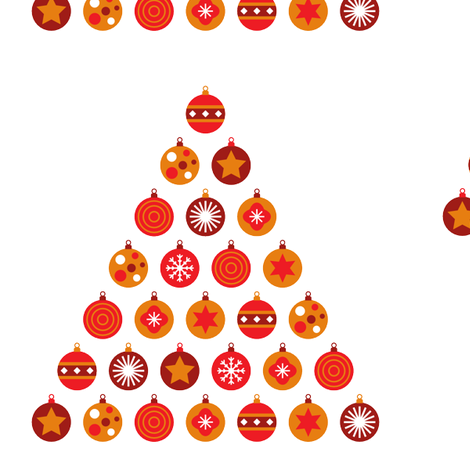 Christmas bauble tree  fabric by fun_with_mum on Spoonflower - custom fabric