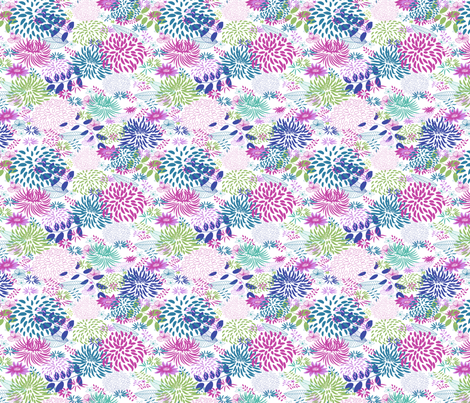 Garden fabric by yaskii on Spoonflower - custom fabric