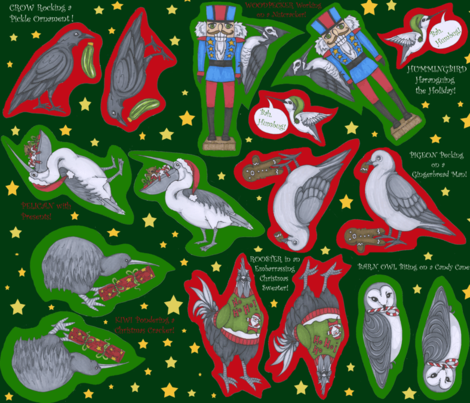 Merry Merry Aviary! fabric by ceanirminger on Spoonflower - custom fabric