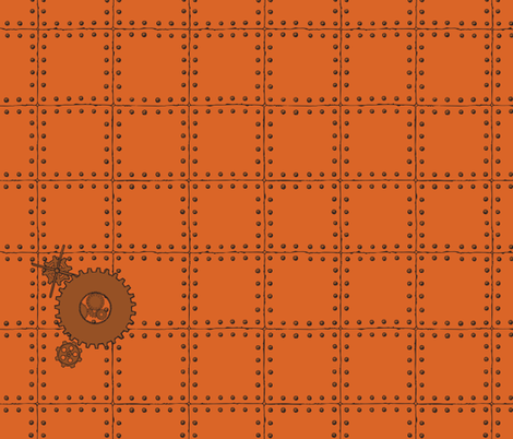 Rivets 'n Gears fabric by jmckinniss on Spoonflower - custom fabric
