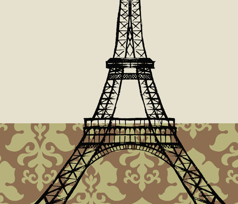 paris pillow fabric by littlerhodydesign on Spoonflower - custom fabric