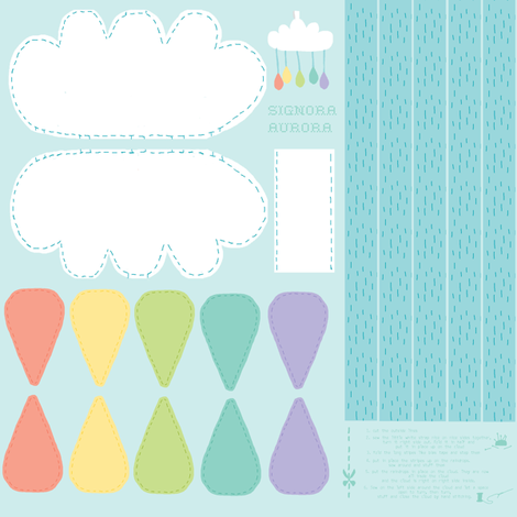 raindrops fabric by eoskoch on Spoonflower - custom fabric