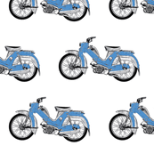 blue moped scooter Tunturi-ch