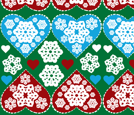SNOWFLAKE_ornament fabric by worldwidedeb on Spoonflower - custom fabric